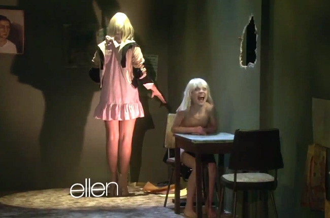 Sia and Maddie Ziegler perform on Ellen Degeneres ...